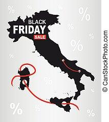 Black Friday Map - Italy