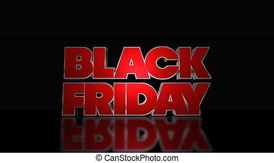 Black Friday Mega Sale 3D Text Looping Animation - Black...