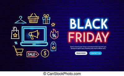 Black Friday Neon Banner Design