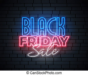 black friday neon sale banner design