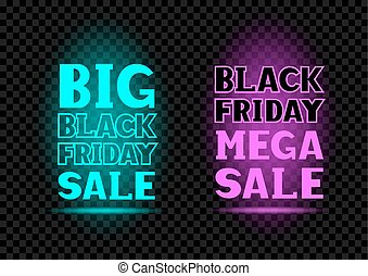 black friday neon text