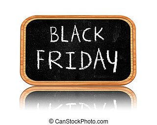 black friday on blackboard banner