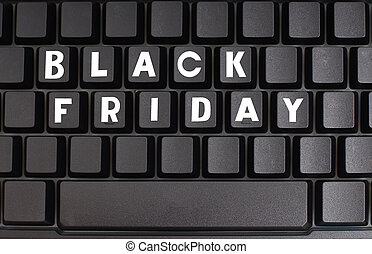 Black friday on computer