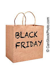 Black friday paper bag