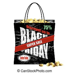 Black Friday paper shopping bag