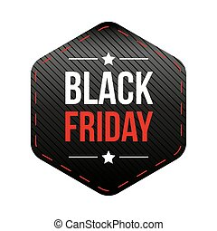 Black Friday patch vector
