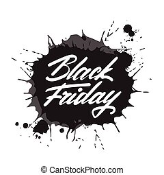 Black Friday Poster with Rubber Stamp On White Background