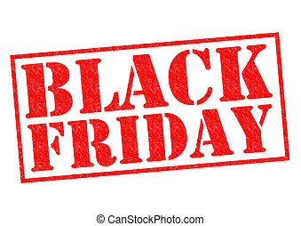 BLACK FRIDAY red Rubber Stamp over a white background.