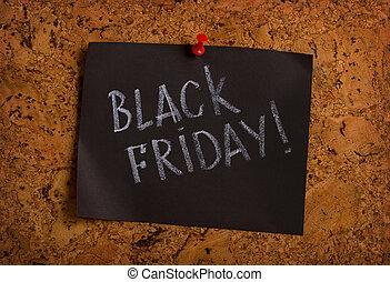 black friday reminder - Handwritten black Friday on a sheet ...
