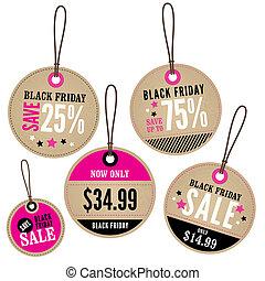 Black Friday Retail Labels - A set of Black Friday Sale...