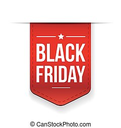 Black Friday ribbon tag vector