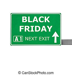 BLACK FRIDAY road sign isolated on white