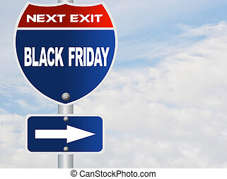 Black Friday road sign
