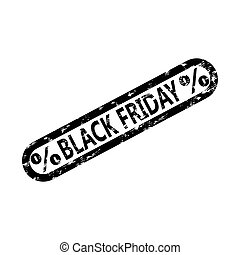 Black friday rubber stamp isolated on white