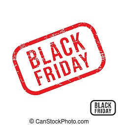 Black friday rubber stamp with grunge texture design