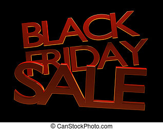 black friday sale 3d-illustration
