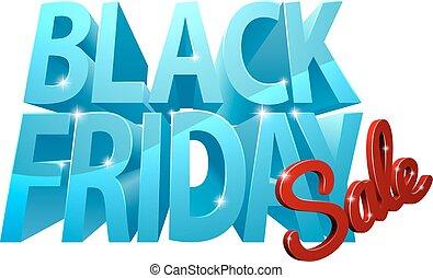 Black Friday Sale 3D Sign