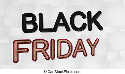 Black Friday Sale 3D Text Looping Animation - 4K Resolution...