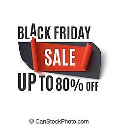 Black Friday Sale, abstract banner.