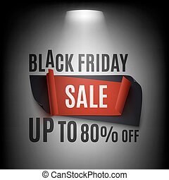 Black Friday Sale, abstract banner illuminated with light.