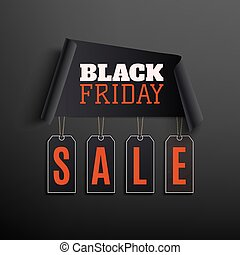 Black friday sale abstract design on black background.