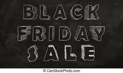 "Black Friday Sale - Animated ""BLACK FRIDAY SALE"" text on a..."