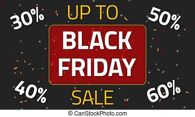 Black Friday Sale animation with up to 60 percent