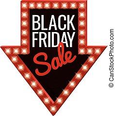 Black Friday Sale Arrow Sign