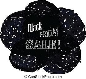 Black friday sale background for advertising banner. Vector illustration.