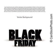 Black friday sale background on white