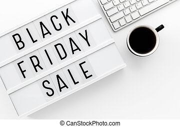 Black friday sale background top view