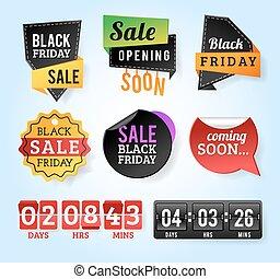 Black Friday sale badges. Black sale banner badge. Christmas...