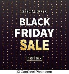 Black Friday Sale Banner Background