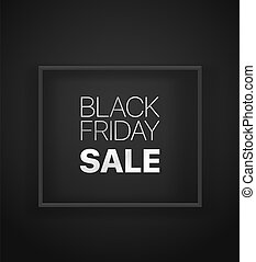Black friday sale banner black banner. Vector illustration