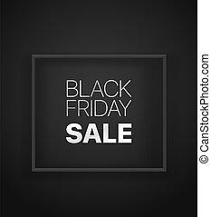 Black friday sale banner black banner. Vector illustration