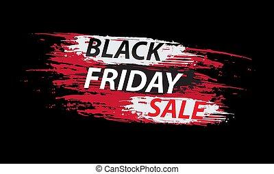 black friday sale banner design vector illustration