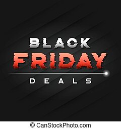 Black Friday sale banner design with a glitch styled text.