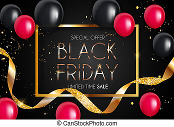 Black Friday Sale Banner Template. Illustration
