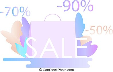 Black friday sale banner. vector flat illustration