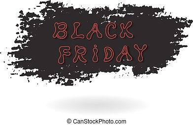 Black Friday sale banner. Vector illustration.