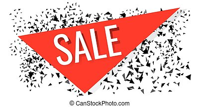 Black Friday sale banner. Vector illustration on white background