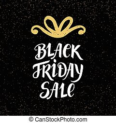 Black Friday Sale banner with hand lettering