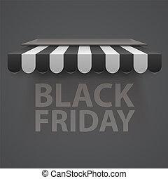 Black friday sale black and white awning background.
