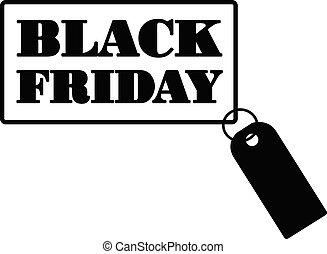 Black Friday sale black sticker
