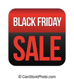 Black Friday Sale button vector