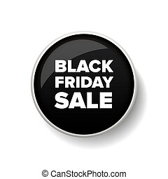Black Friday Sale button vector