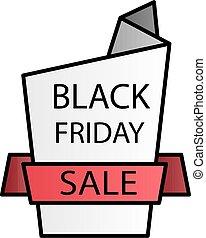 Black friday sale color gradient vector icon