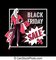 Black Friday sale design.