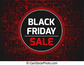 Black friday red banner - Black Friday sale design template....