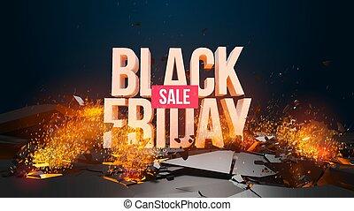 Black Friday sale, discount. 3d render illustration. In my ...